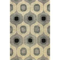 "Tufted Multicolored Wool Britanny Area Rug - 7'6"" x 9'6"""
