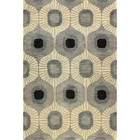 Tufted Multicolored Wool Britanny Area Rug - 8' x 10'