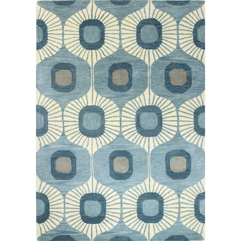 Woodbridge Blue Hand Tufted Contemporary Area