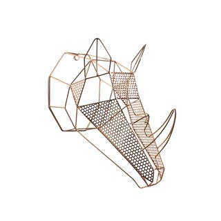 Orbie Rose Gold Metal Geometric Mounted Rhino Head Wall Sculpture|https://ak1.ostkcdn.com/images/products/12883323/P19642655.jpg?impolicy=medium