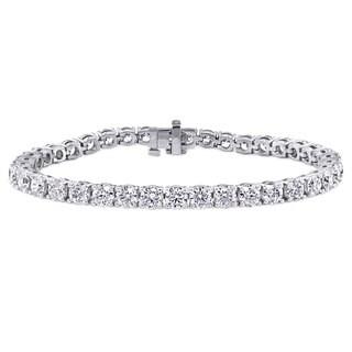 Suzy Levian 11 ct TDW 14K White Gold Diamond Tennis Bracelet (J-K,, SI2-SI3)
