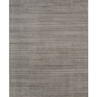 Pacific Rugs Urban Dark Grey New Zealand Wool/Viscose Blend Hand-loomed Area Rug - 10' x 13'
