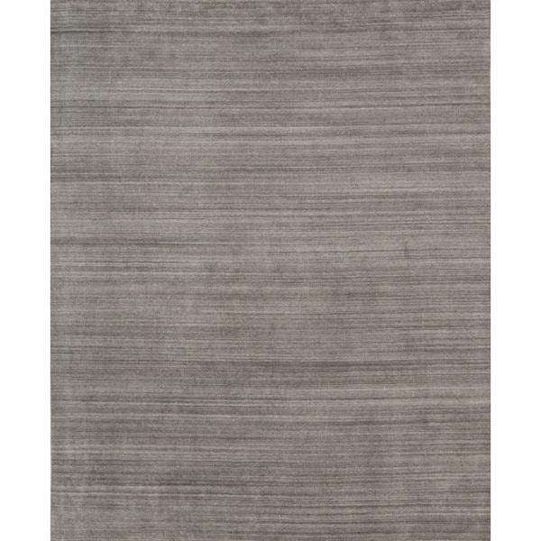 Pacific Rugs Urban Dark Grey Hand-loomed New Zealand Wool/Viscose Blend Area Rug - 9' x 12'