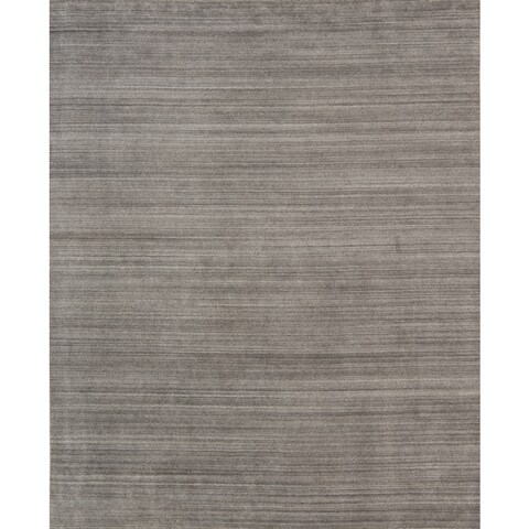 Pacific Rugs Urban Dark Grey Hand-loomed New Zealand Wool/Viscose Blend Area Rug - 9' x 12'