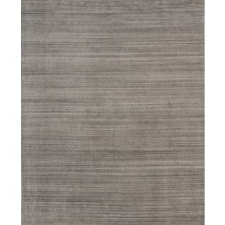 Pacific Rugs Urban Dark Grey Hand-loomed New Zealand Wool/Viscose Blend Area Rug (9' X 12')