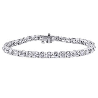 Suzy Levian 11.01 ct TDW 14K White Gold Diamond Tennis Bracelet (G-H, SI3-I1)