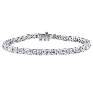 Suzy Levian 11.01 ct TDW 14K White Gold Diamond Tennis Bracelet