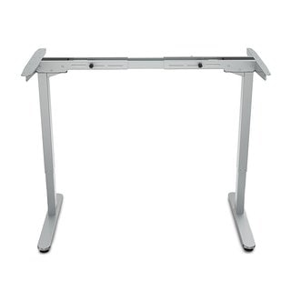 FlexiSpot Silver Steel Electric Height Adjustable Standing Desk Frame with Automatic Memory Smart Keypad