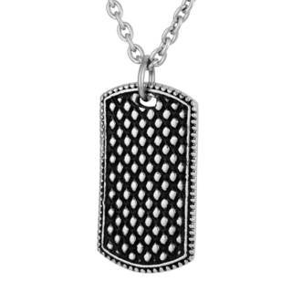 Men's Stainless Steel Bubble Dog Tag