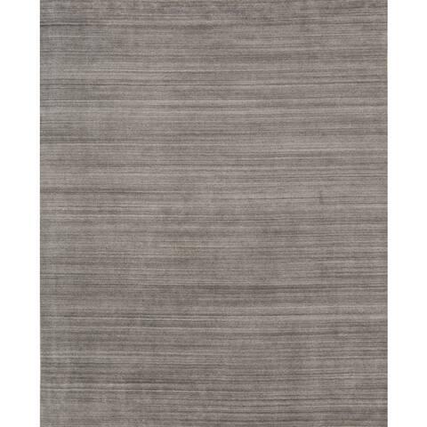 Pacific Rugs Grey Wool/Viscose Hand-loomed Urban Area Rug - 8' x 10'