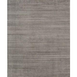 Pacific Rugs Grey Wool/Viscose Hand-loomed Urban Area Rug (8' x 10')