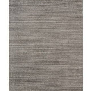 Pacific Rugs Grey Wool/Viscose Hand-loomed Urban Area Rug - 4'10 x 7'10