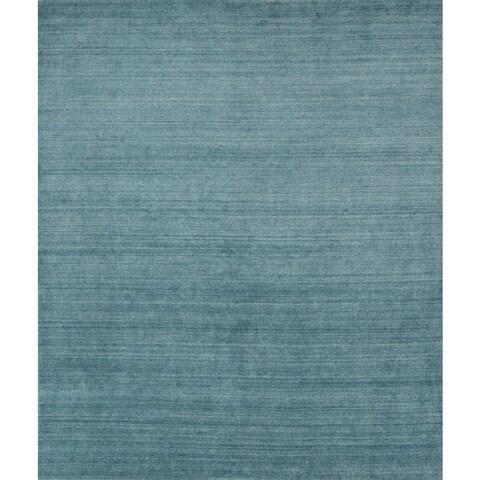 Pacific Rugs Blue Wool/Viscose Hand-loomed Urban Area Rug - 4'10 x 7'10