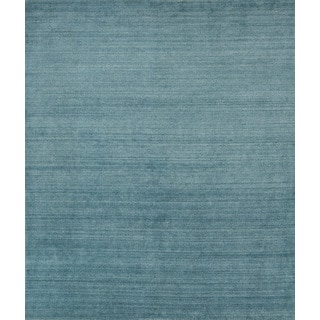 Pacific Rugs Blue Wool/Viscose Hand-loomed Urban Area Rug (5' x 8')