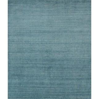 Pacific Rugs Blue Wool/Viscose Hand-loomed Urban Area Rug (5' x 8')