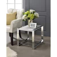 Oliver & James Mirza Silver Side Table