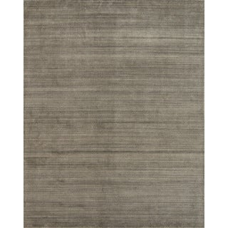 Pacific Rugs Urban Olive New Zealand Wool and Viscose Hand-loomed Area Rug - 7'10 x 9'10