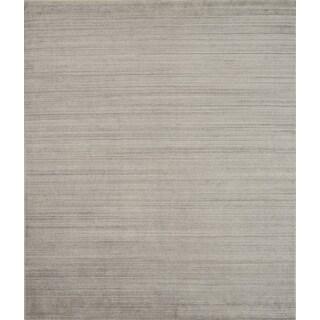 Pacific Rugs Beige New Zealand Wool/Viscose Hand-loomed Rug (8' X 10')