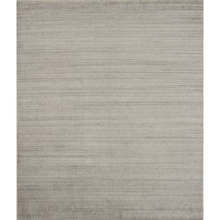 Pacific Rugs Urban Beige New Zealand Wool and Viscose Blend Area Rug (5' x 8')
