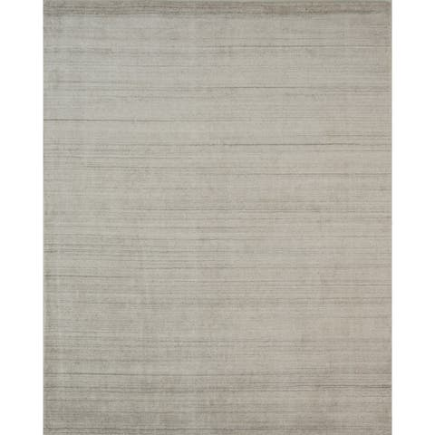 Hand-loomed Urban Ivory New Zealand Wool and Viscose Blend Rug - 10' x 13'