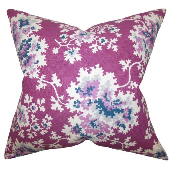 Danique Floral Euro Sham Purple
