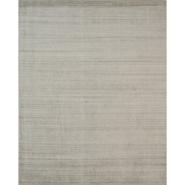 Pacific Rugs Ivory Wool/Viscose Hand-loomed Urban Area Rug - 5' x 8'