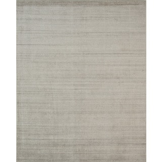 Pacific Rugs Ivory Wool/Viscose Hand-loomed Urban Area Rug (5' X 8')