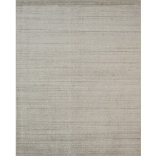 "Pacific Rugs Ivory Wool/Viscose Hand-loomed Urban Area Rug - 4'10"" x 7'10"""