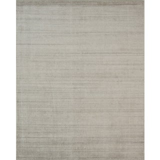 Pacific Rugs Ivory New Zealand Wool/Viscose Hand-loomed Rug (9' x 12')