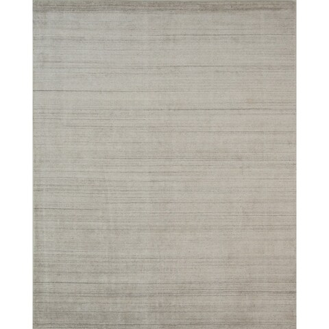 Pacific Rugs Wool/Viscose Ivory Hand-loomed Urban Area Rug - 8' x10'