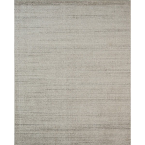 Pacific Rugs Wool/Viscose Ivory Hand-loomed Urban Area Rug - 8' x 10'