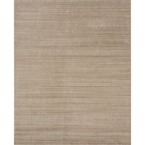 "Pacific Rugs Light Gold New Zealand Wool/Viscose Hand-loomed Rug - 7'10"" x 9'10"""
