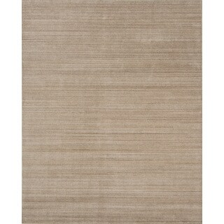 Pacific Rugs Light Gold New Zealand Wool/Viscose Hand-loomed Rug (8' X 10')