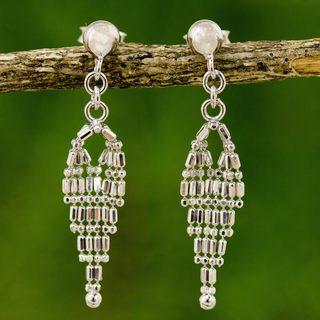 Handmade Sterling Silver 'Ballroom Chandeliers' Earrings (Thailand)