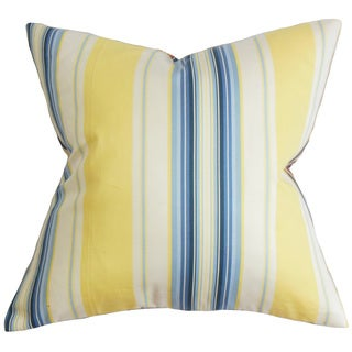 Douce Stripe Euro Sham Blue Yellow