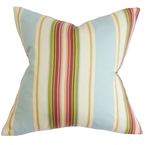 Douce Stripe Euro Sham Blue