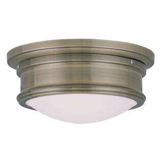 Livex Lighting Astor Flush-mount 2-light Ceiling Fixture