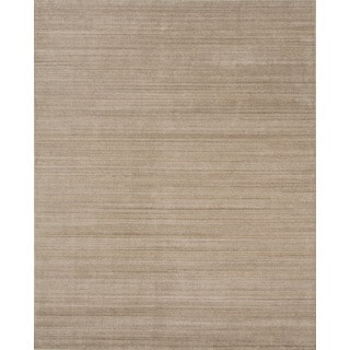 Urban Light Gold New Zealand Wool/ Viscose Hand-loomed Rug (9' x 12')