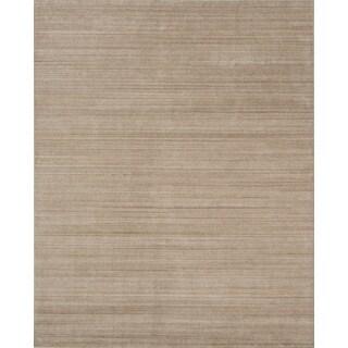 Urban Light Gold New Zealand Wool/ Viscose Hand-loomed Rug (9' x 12')