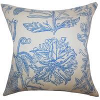 Neola Floral Euro Sham Blue
