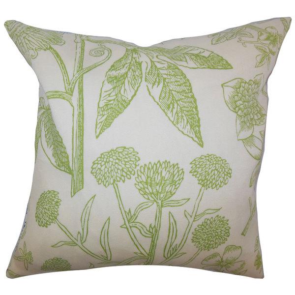 Neola Floral Euro Sham Green