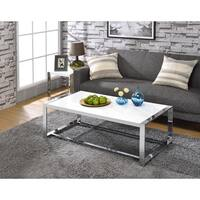 Oliver & James Mirza Silver Coffee Table