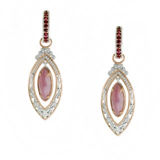 One-of-a-kind Michael Valitutti Rose Cut Pink Sapphire Earrings