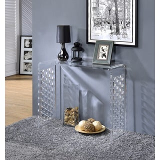 High Quality Acrylic Console With Honeycomb Design