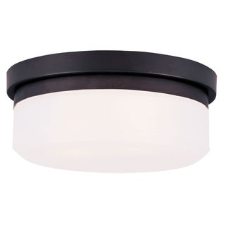 Livex Lighting White Bronze Round Stratus Ceiling Mount Light