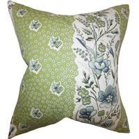 Elske Floral Euro Sham Cactus Green
