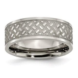 Titanium Weave Design 8mm Band
