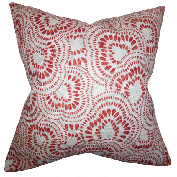 Glynis Floral Euro Sham Mint Red