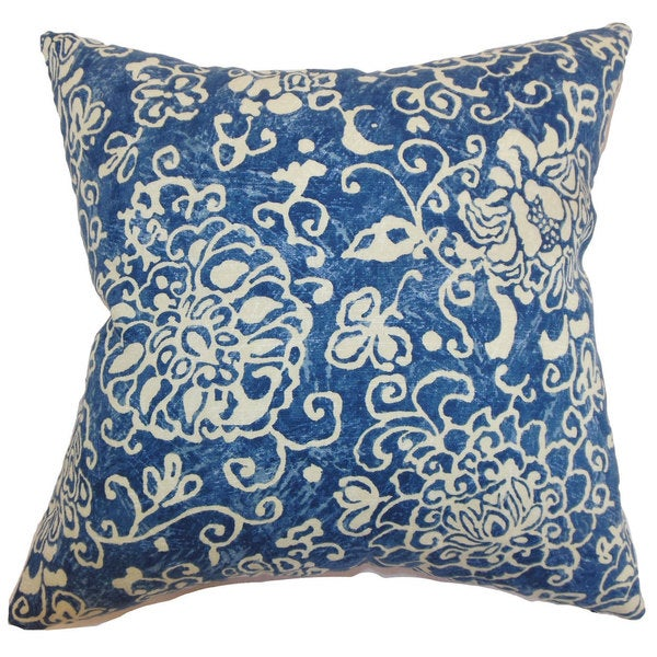 Jaffna Floral Euro Sham Blue
