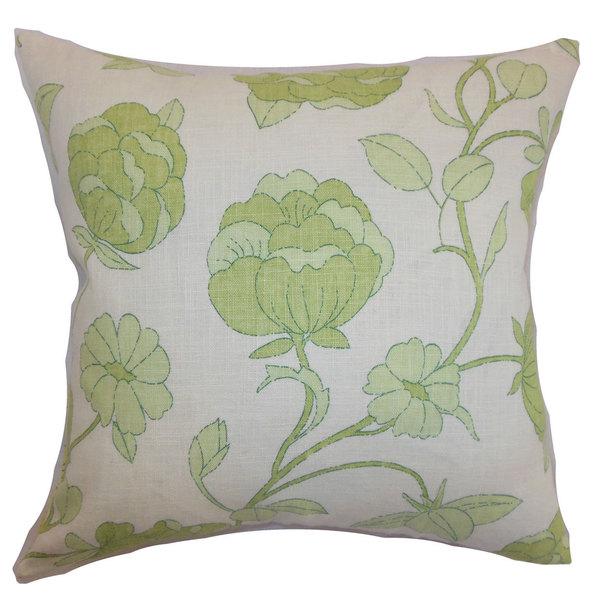 Lalomalava Floral Euro Sham Spring Green